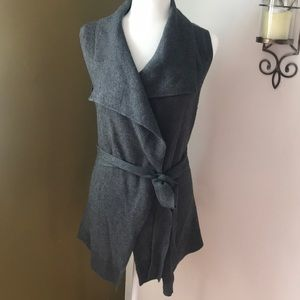 Lands End sleeveless wrap sweater